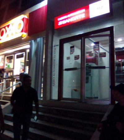 Reportan extraño intento de robo en un cajero junto a Plaza Galerías de Cancún
