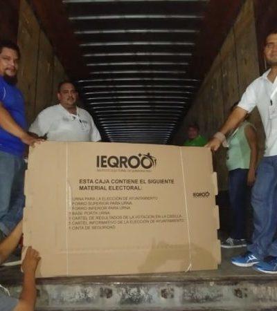 Llega un millón 271 mil, 739 de boletas electorales a Quintana Roo. En Benito Juárez aparecerá el nombre de José Luis Acosta Toledo en las boletas