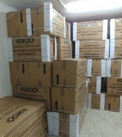 Consejo municipal del Ieqroo en Solidaridad, se prepara para recibir el material electoral custodiado; llegarán 204 mil 499 boletas al municipio