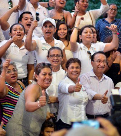 Ciudadanos de Cozumel apoyan propuestas de Leslie Hendricks