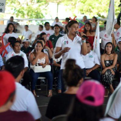 Respaldan jóvenes de Cozumel a Leslie Hendricks Rubio y Pedro Joaquín Delbouis