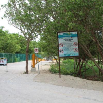 Roban malla metálica y señalización de Zofemat en la playa Punta Esmeralda; no hay detenidos