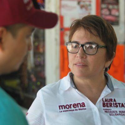 Laura Beristaín, de llegar a la presidencia municipal, propondrá la creación de la Filarmónica del Mar Caribe