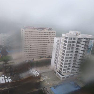 Fuertes lluvias en Quintana Roo por onda tropical tres
