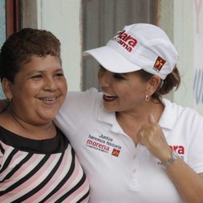 """""""La prevención del delito es una política clave de mi gobierno"""", asegura Mara Lezama en el ejido Alfredo V. Bonfil"""