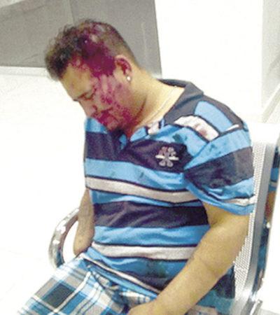 Tunden vecinos a delincuente habitual; policías lo encuentran sangrando de cabeza y mano por herida con machete