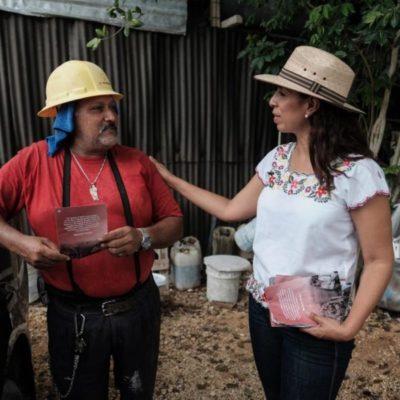 Marybel Villegas se compromete a promover una ley que proteja derechos laborales en Quintana Roo