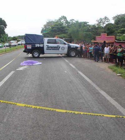 Muere menor atropellada por dos vehículos al intentar cruzar una carretera