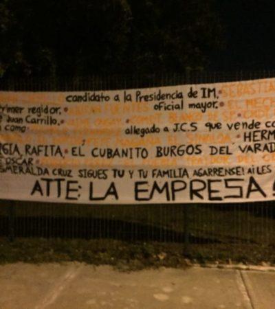 APARECE OTRA MANTA CON AMENAZAS CONTRA JUAN CARRILLO: Nuevas supuestas advertencias contra el candidato del PRI en Isla Mujeres