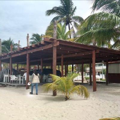 Clausura Profepa obra ilegal construida sobre la playa en Isla Mujeres