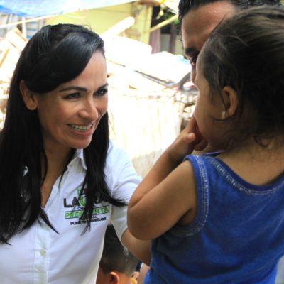 Laura Fernández defenderá los derechos de los niños de Puerto Morelos