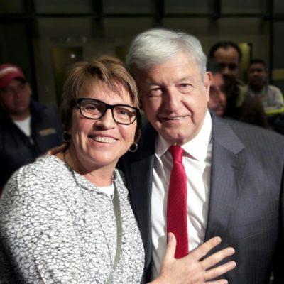 Confía Laura Beristain en el triunfo de AMLO de cara al tercer debate por la Presidencia