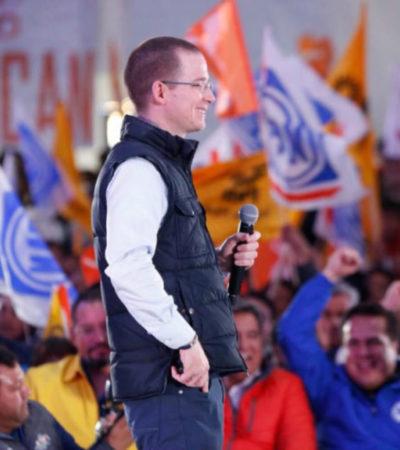 OFICIAL: Ricardo Anaya no tendrá cierre de campaña en Cancún