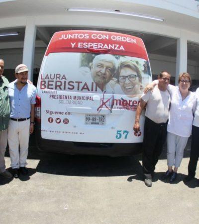 Trabajadores del volante apoyan candidatura de Laura Beristaín y AMLO