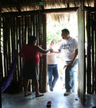 Ofrece Edgar Gasca que cambiarán las condiciones de vida para familias de comunidades rurales de Isla Mujeres