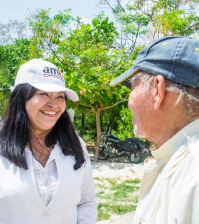 Mildred Ávila, anfitriona de la tercera visita a Cancún de AMLO este martes 26 de junio, refrenda su propuesta de traer la Secretaría de Turismo a QR
