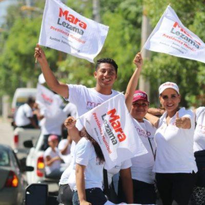 Recorre Mara Lezama colonia Tres Reyes y asegura que su gobierno dará más oportunidades a los más necesitados