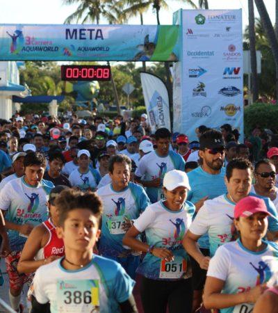 Juan Manuel Mercado y Rosa Cruz ganan carrera atlética en Cancún