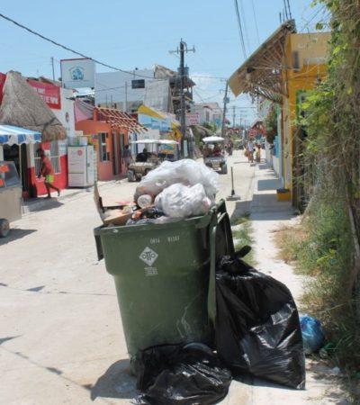 En Holbox falla la recolección de basura