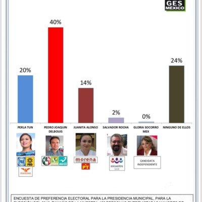 Pedro Joaquín encabeza encuestas en Cozumel con 40% de preferencias