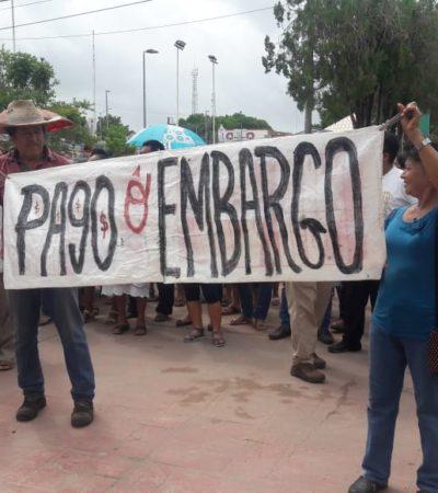 """""""PAGO O EMBARGO"""": Ex trabajadores de José María Morelos reclaman liquidación pendiente desde hace cinco años"""