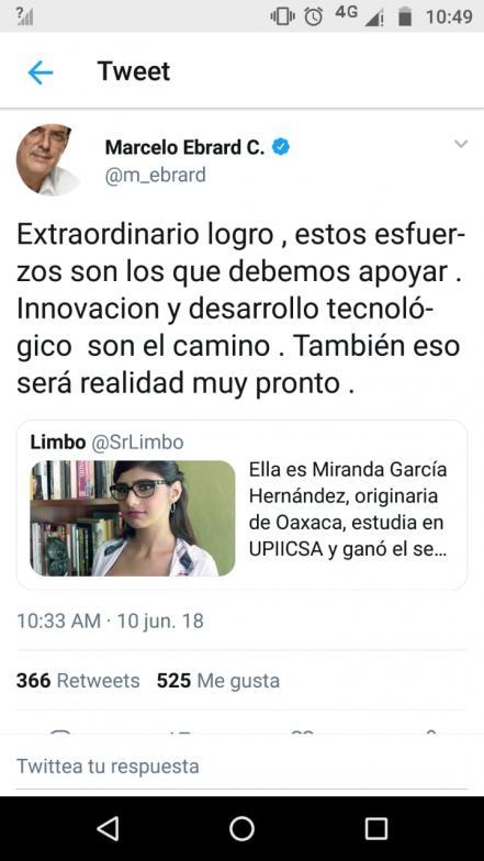 Marcelo Ebrard cae en broma y felicita a Mia Khalifa, actriz porno