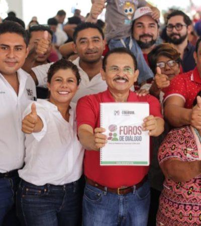 Martín de la Cruz se compromete a tener un gobierno con sentido social que esté siempre con la gente