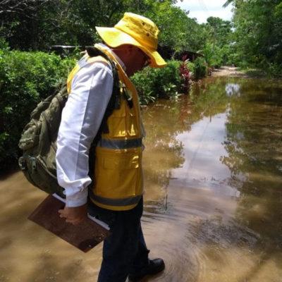 Secretaría de Salud recorre casa por casa zonas afectadas por lluvias