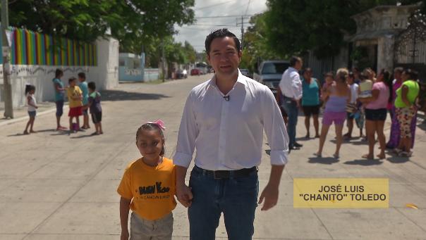 PRIMICIA   REAPARECE 'CHANITO': Tras quedar fuera de la contienda por Cancún, Toledo Medina sale en 'spot' para pedir el voto para Julián Ricalde para el Senado
