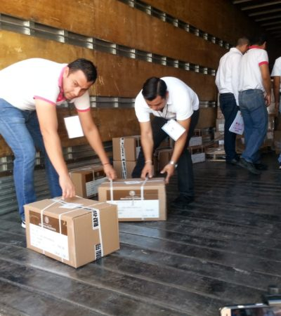 LLEGA EL MATERIAL ELECTORAL A QR: Ejército y Marina resguardarán boletas y actas que se usarán durante la votación del próximo 1 de julio