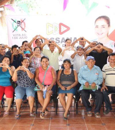 Perredistas se suman a campaña de la priísta Rossana Romero, en José María Morelos