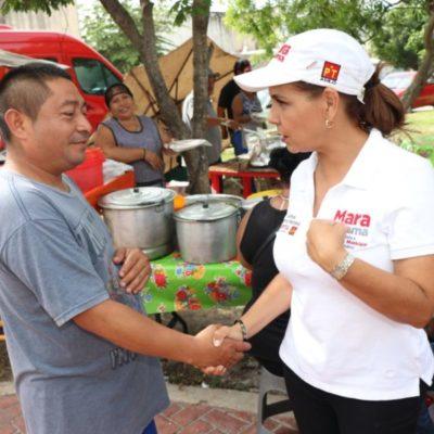 Mara Lezama dice que garantizará que nadie se quede sin ir a la escuela por falta de recursos en Benito Juárez