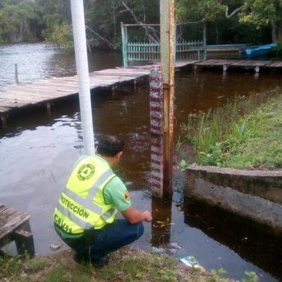 Protección Civil monitorea el nivel del río Hondo, tras las lluvias