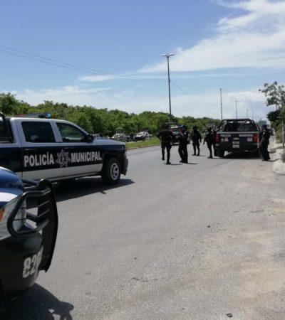 LLEGARON DE CANCÚN PARA ROBAR | NUEVA PERSECUCIÓN CON BALAZOS AL PONIENTE DE PLAYA: Detienen policías municipales a 4 de 5 presuntos delincuentes que asaltaron un negocio de carnes en Villas del Sol
