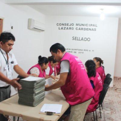 Sellan paquetes electorales en Lázaro Cárdenas