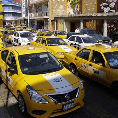 Confirman 'paro' de taxistas para mañana en Villahermosa