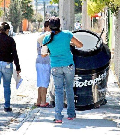 PARADOJAS DE CAMPAÑAS EN CHIAPAS: Regalan tinacos en Ocozocoautla, pero no hay agua potable; beneficiados los venden en 300 pesos