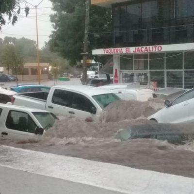 Azota tormenta y provoca caos en Aguascalientes