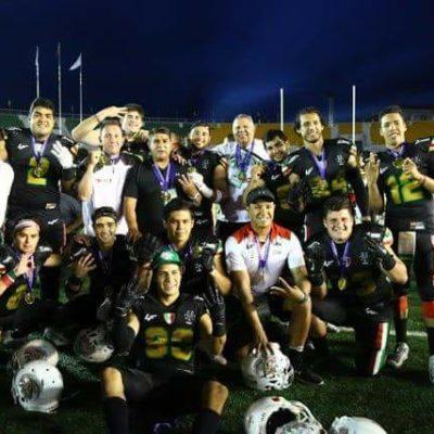 Tricampeonato de México en el Campeonato Mundial Universitario de Futbol Americano 2018, con toque cancunense