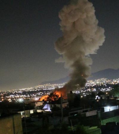 Deja explosión de pirotecnia al menos 7 muertos en Tultepec; taller era ilegal