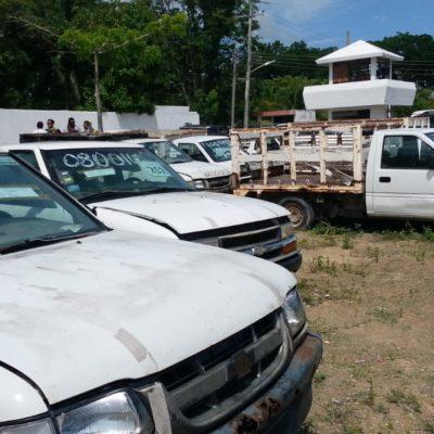 Remata gobierno de QR 144 vehículos