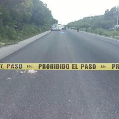 Muere persona atropellada en la vía Tulum-Cobá
