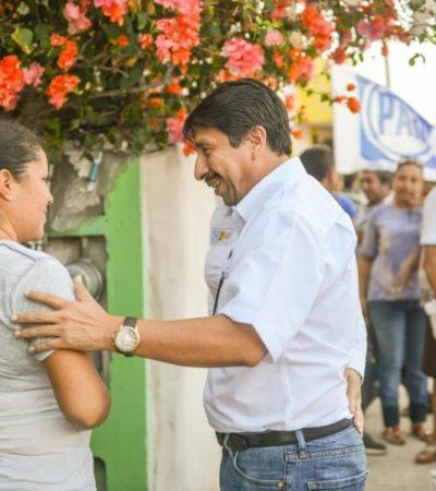 """""""Los servicios en Chemuyil serán prioridad para mi gobierno"""", promete Víctor Mas"""