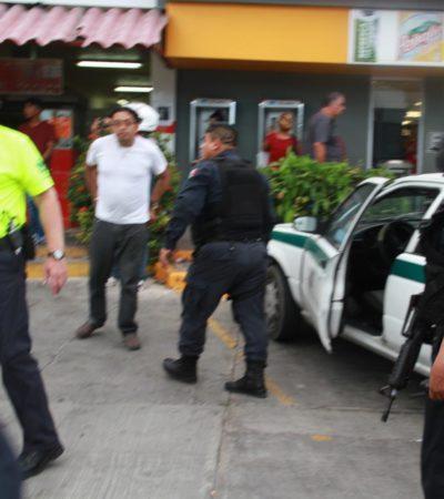 Balean a un taxista en la Avenida Uxmal de Cancún