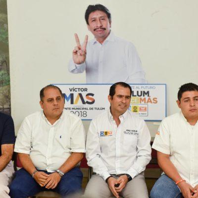 PARTIDOS DAN RESPALDO A VÍCTOR MAS: La 'guerra sucia' no afecta al candidato por Tulum porque las elecciones se ganan con propuestas positivas, advierten dirigentes del 'Frente'