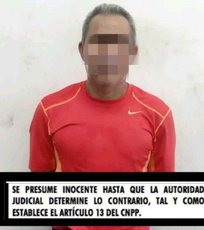 Por pasarse un alto, detienen a un presunto narcomenudista en Chetumal