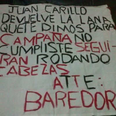 A menos de una semana de asesinato de candidata a regidora, aparece presunta narcomanta con amenazas contra Juan Carrillo en Isla Mujeres