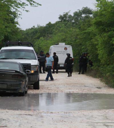 TRIPLE EJECUCIÓN EN PUERTO MORELOS: Hallan cuerpos embolsados presuntamente de dos hombres y una mujer en camino de terracería 'El Hueso Blanco'