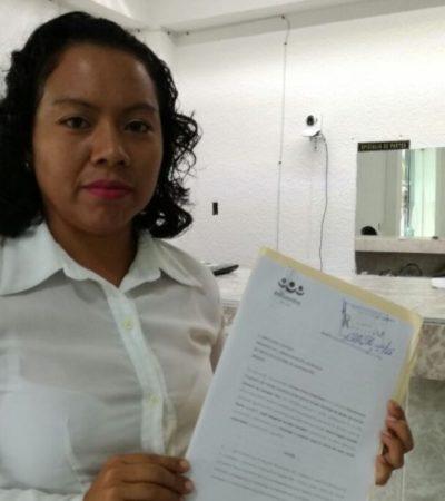 Candidata del PES a la presidencia municipal de Bacalar denunció ante el Ieqroo la colocación de publicidad falsa como parte de la 'guerra sucia'