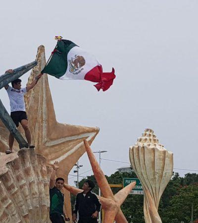 TOMAN 'EL CEVICHE' PARA CELEBRAR TRIUNFO DE MÉXICO: Cientos de cancunenses festejan el histórico partido ante los alemanes